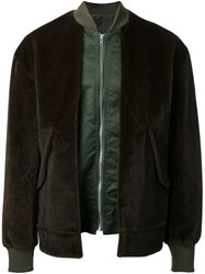 Toga Faux Fur Bomber Jacket Green