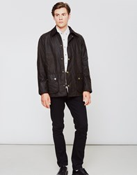 Barbour Ashby Waxed Field Jacket Olive Green