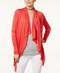 Inc International Concepts Petite Open Front Draped Illusion Cardigan Only At Macy's Hibiscus Bloom