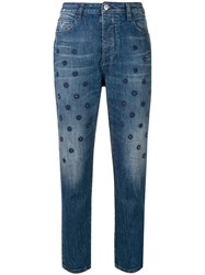 Zadig And Voltaire Starseed Cropped Jeans Blue