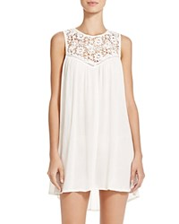 Boho Me Lace Trim Dress Swim Cover Up Natural