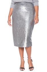 Plus Size Women's Eloquii Sequin Midi Pencil Skirt