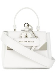 Philipp Plein Marion Tote Leather Polyester White