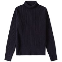 Oliver Spencer Rib Roll Neck Knit Blue