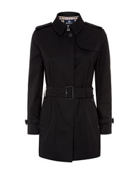 Aquascutum London Jennifer Single Breasted Raincoat Black