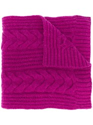 N.Peal Wide Cable Knit Scarf 60