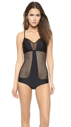 Luli Fama For Your Eyes Only One Piece Swimsuit Black