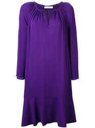 Dorothee Schumacher Layered Shift Dress Pink Purple