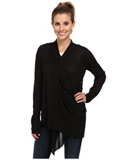 Royal Robbins Lindsey Wrap Cardi Jet Black Women's Sweater