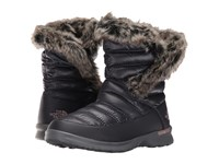The North Face Thermoball Microbaffle Bootie Ii Shiny Nine Iron Grey Quail Grey Women's Pull On Boots Black