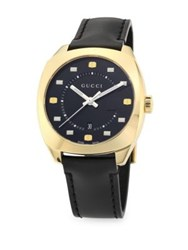 Gucci G Motif Gold Plated Stainless Steel Watch Black Gold