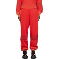 Ambush Red Bleach Patchwork Lounge Pants