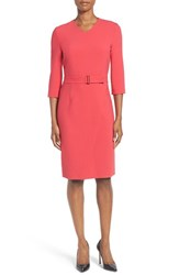 Boss Women's Dylea Belted Faux Wrap Sheath Dress