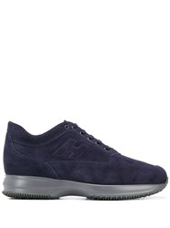 Hogan Logo Stamp Low Top Sneakers Blue