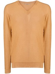 Nuur Ribbed Slim Jumper Neutrals