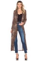 By The Way. Freya Leopard Drape Trench Brown