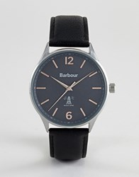 Barbour Bb079slbk Jesmond Leather Watch In Black