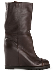 Chuckies New York Mid Calf Boots Brown