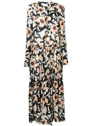Christian Wijnants Floral Print Maxi Dress Multicolour
