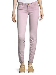 Robin's Jean Embroidered Logo Skinny Jeans Cotton Pink