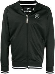 Plein Sport Back Logo Patch Sports Jacket Black