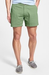 Vintage Men's 1946 'Snappers' Washed Elastic Waistband Shorts Lime