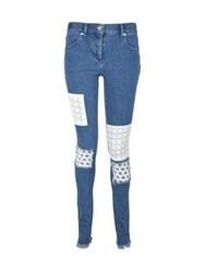 House Of Holland Patch Skinny Jeans Blue