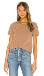 Citizens Of Humanity Frankie Classic T Shirt In Brown. Toast