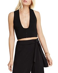Bcbgeneration Cropped Blazer Vest Black