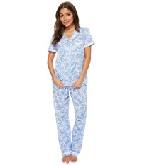 Nautica Short Sleeve Knit Pajama Set Paisley Women's Pajama Sets Multi