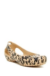 Crocs Kadee Animal Flat Women Metallic