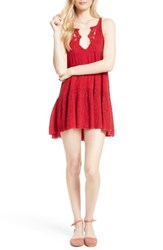 Free People Women's Tiny Tent Babydoll Dress Red