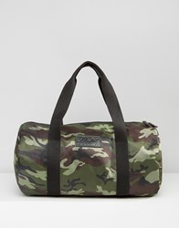 Heist Duffle Quilted Bag In Khaki Camo Green