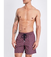 Vilebrequin Moorea Anchor Print Swim Shorts Navy Blue