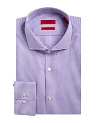 Hugo Striped Dress Shirt Purple