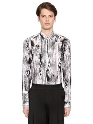 Mcq By Alexander Mcqueen Wood Grain Printed Cotton Poplin Shirt
