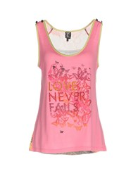 Tricot Chic Tank Tops Pink