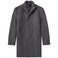 Tres Bien Cropped Wool Coat Grey