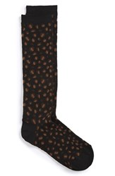 Junior Women's Capelli Of New York Leopard Knee High Socks