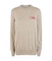Givenchy Cashmere Love Sweater Beige