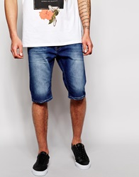 New Look Denim Shorts In Slim Fit Blue