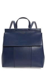 Tory Burch Block T Leather Backpack Blue Royal Navy