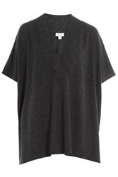 Vince Wool Top With Cashmere Grey
