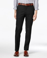 Dockers Signature Stretch Slim Tapered Fit Flat Front Khaki Pants Black