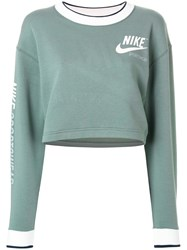 Nike Cropped Sweatshirt Green