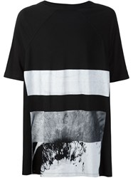 Julius Printed Oversized T Shirt Black