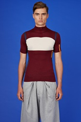 Martine Rose Be Cycling Tee Burgundy