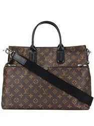 Louis Vuitton Vintage Macassar Tote Bag Brown