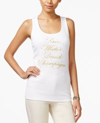 Inc International Concepts Graphic Tank Top Only At Macy's Bright White