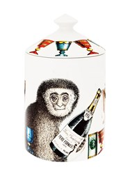 Fornasetti Champagne Monkey Scented Wax Candle White